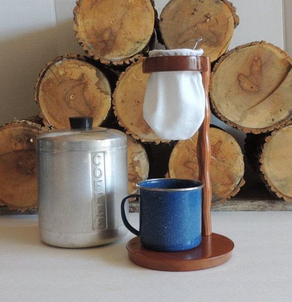 Handmade Redwood Costa Rica Style Coffee Maker Chorreador Pour