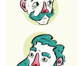 Beard Buds- 5x7 print