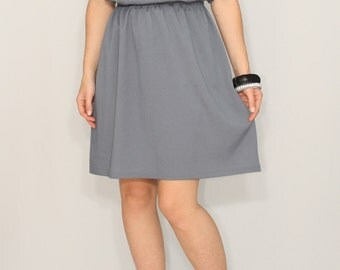 Dark gray short dress Bridesmaid dress Chiffon dress Prom dress Keyhole dress