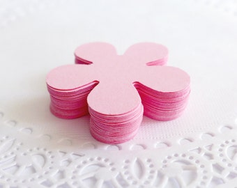 Pink Retro Flowers, Cardstock Flowers, Die Cuts, Punched Cardstock, Scrapbook Embellishment, Table Scatters, Confetti