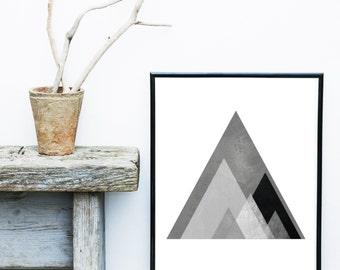 Abstract Art Print, Printable Art, Geometric Print,  Minimalist Poster, Scandinavian Design, Abstract Wall Art, Digital Download