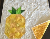 Pineapple Quilt with Swiss Cross Back