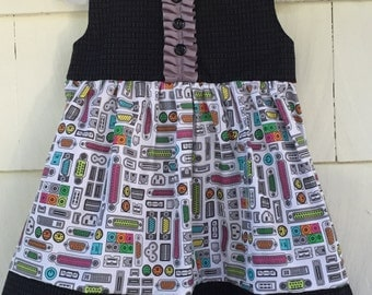 Computer Dress | Binary Dress | Science Dress | Girls Who Code | Science Birthday | Stem Clothing | Nerd Gift | Baby Gift | Toddler |