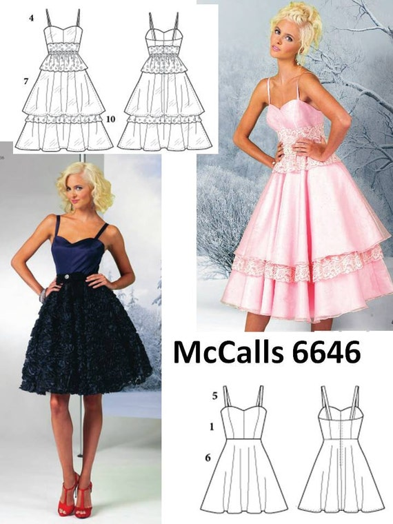 DIY Sewing Pattern-McCall's 6646  Gown-Misses Size 8-16