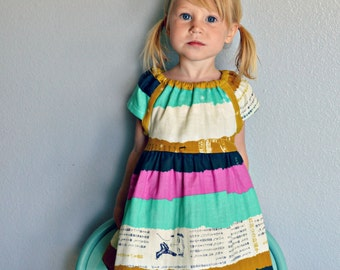 Coordinating Sister dresses, fall outfits, mustard yellow, navy blue, turquoise, aqua, pink, sibling photo shoot, baby toddler