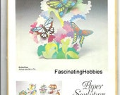 Vintage - BUTTERFLIES - Paper Sculpture by Carol LEITH - years 1980 - MONKEYPUZZLE - Mint in its original package, with strong enveloppe-