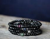 Spinel Diamond Pave Stacking Bracelets, Ruby, Sapphire, Tsavorite Bohochic Bracelets, Beaded Bracelets, Birthstone Bracelet, Luxury Bracelet