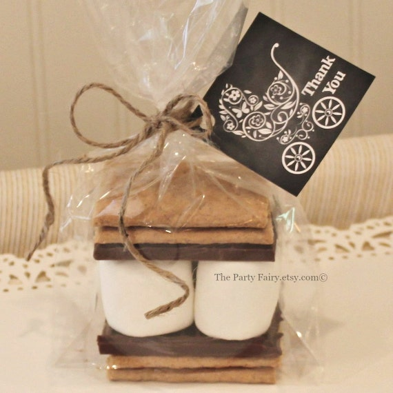 Wedding Favor Tag Kit : mores Favor Kits, 12 Smores Baby Shower Favor Kits with Tags, Baby ...