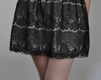 Mini Black Lace Skirt -  XS, S, M