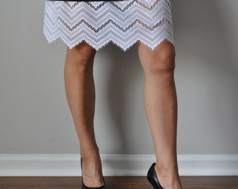 Slip Extender - White Lace Raffle Trim, Lace Slip Extender, Skirt Slip Extender - XS S M L XL XXL