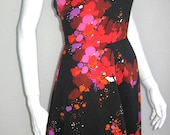 RESERVED 70s vtg psychadelic halter dress