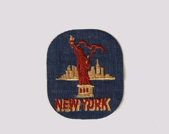 New York Lady Liberty City Vintage 1970's Sewing Patch Applique