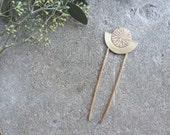 Brass Moon Metal Hair Pin | Hair Stick | Fork | Comb | Hairpin | Boho Half Circle Accessories