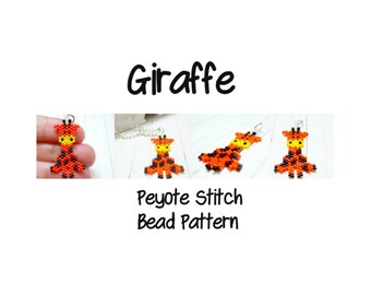Giraffe - Bead Pattern, Peyote or Brick Stitch Beadweaving | DIGITAL DOWNLOAD