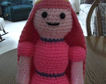 Crochet Princess Bubblegum from Adventure Time, Made to Order