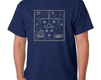 Zodiac gift - LIBRA Zodiac Sign T-shirt - Men's T-Shirt - Libra Shirt - Graphic Mens Shirt - Astrology Shirt