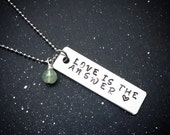 Custom Crystal Mantra Necklace- Love is the Answer
