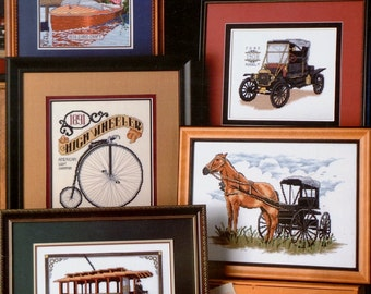Stoney Creek Collection | CLASSIC TRAVEL | Antique Vehicles | Automobiles | Multiple Designs | Counted Cross Stitch Pattern | Chart Booklet