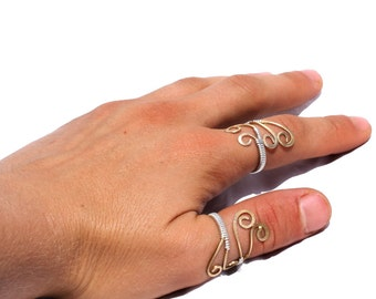 Adjustable Ring Adjustable Silver Ring Wire Wrapped Ring Sterling Silver Ring Wire Wrap Ring Handmade Brass Ring Wire Wrapped Jewelry Gift
