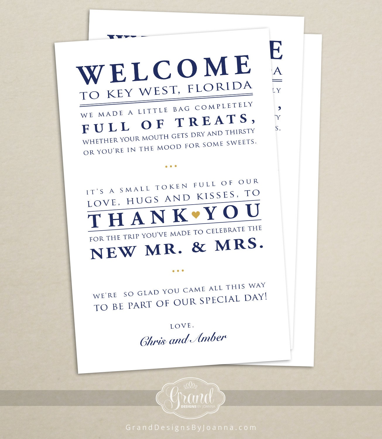 Wedding Hotel Welcome Bag Letter Wedding Welcome Bag Note