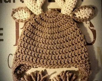 Crochet Deer Hat