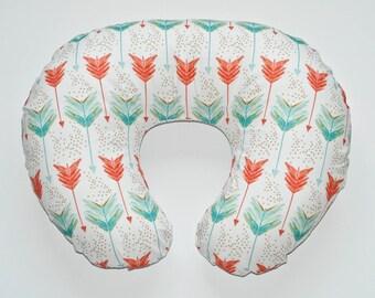 Nursing Pillow Cover Watercolor Arrows. Nursing Pillow. Nursing Pillow Cover. Minky Nursing Pillow Cover. Arrow Nursing Pillow Cover.