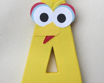 Big Bird Party Decoration - Sesame Street Themed Birthday Letter or Number Centerpiece