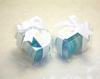 Turquoise Blue Ombre Favor Boxes