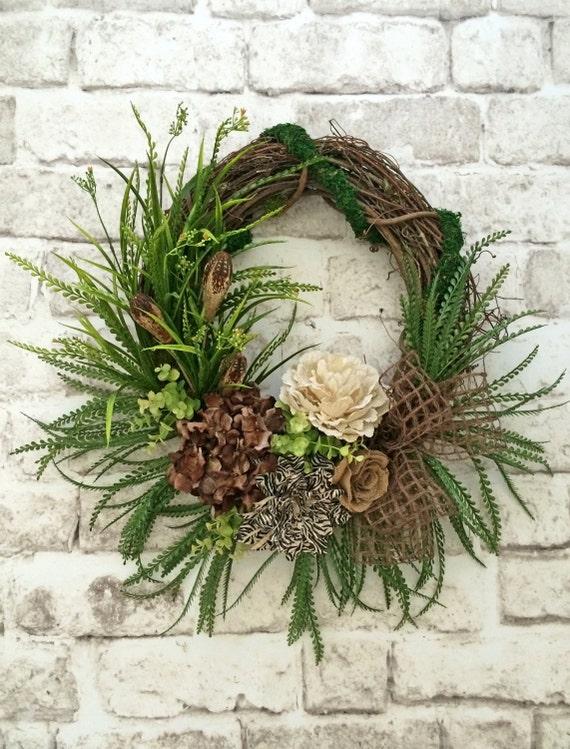 Burlap Front Door Wreath Fall Wreath For Door Outdoor
