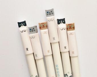Set of 3 Cute Kitty 0.38 Fine Tip Pens in Black Ink P8080