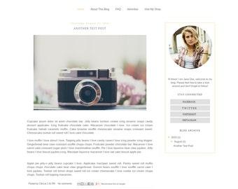 Blogger Template - Minimalist Modern Clean Blog Design - Blog Theme - Blog Layout - Blogspot Template