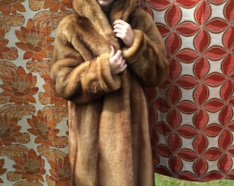 1960s Faux Fur Coat w. Hood : Burning Man