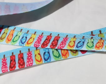 Flip Flop Ribbon 5/8 Inch Grosgrain Ribbon by the Yard for Hairbows, Scrapbooking, and More!!