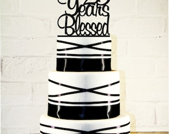 23rd Birthday / Wedding Anniversary Cake Topper - 23 Years Blessed Custom