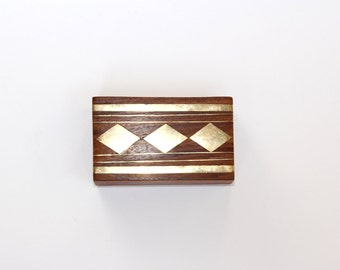 Vintage Wood and Brass Box