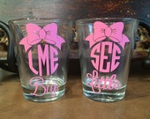 Bow Monogram Shot Glass | Name, Big Little