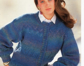 Knitting Pattern Mohair Jacket : 4 ply mohair Etsy