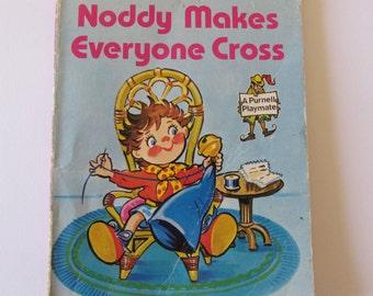 Vintage (1980s) children's book, 'Noddy makes everyone cross' by Enid Blyton