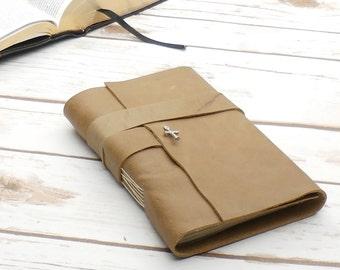 Leather Journal - travel journal - sketchbook - brown journal -  bound journal - christian journal - diary - prayer journal - notebook