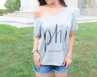 PHI (Philadelphia Sports City) Slouchy Tee- Female Sports Fan Attire