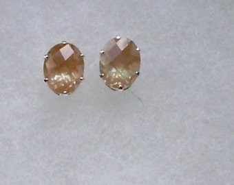 9x7mm Labradorite Gemstones in 925 Sterling Silver Stud Earrings SnapsByAnthony