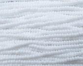 6/0 Opaque White Czech Glass Seed Bead Strand (CW98)