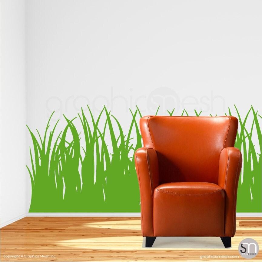 Tall grass wall decals vinyl stickers interior decor for Tall grass decor
