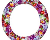 Flowers-Steering Wheel Cover-Cute Car Accessory-Floral Wheel Cover-Girly Car Decor-Car Accessory for Women