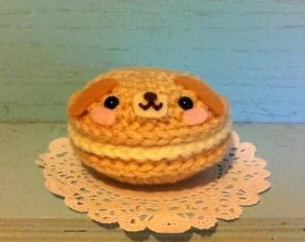 Kawaii Crochet French Macaron Pup Amigurumi