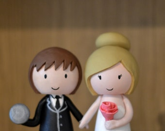 Weight-Lifter Wedding Cake Topper Custom Made