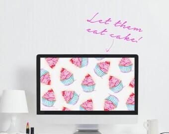 Pink Computer Wallpaper Hustle Quote Art Cute Office