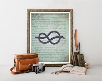 Sailors Knot, Nautical Decor, Nautical, Sailors Decor, Nautical Print, Nautical Art, Nautical Art Print, Nautical Printable, Sailor Art 0336