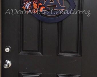Auburn Football Door Hanger, Football door hanger , Sports Team Door Hanger