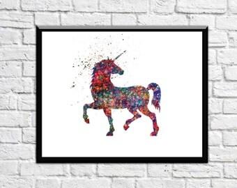 Unicorn Art Unicorn Nursery Art Unicorn with Galaxy effect Stardust Unicorn Print Unicorn Prints Unicorn wall art Unicorn Nursery Decor